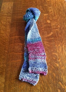 garter stitch tie