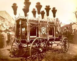 Photo of the original hearse used for Abraham Lincoln