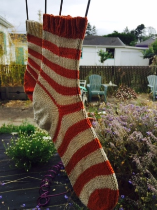 CoBaSi Socks in Carrot and Natural