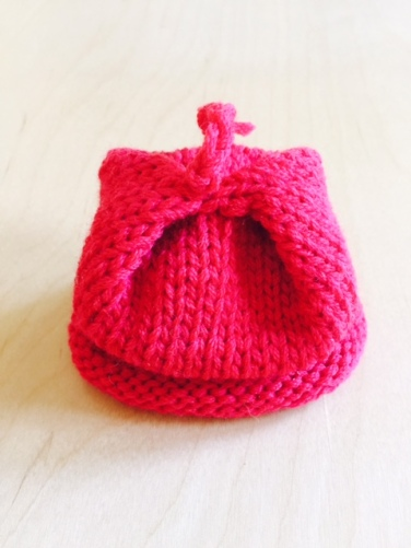 "preemie hat with ""folded"" top."