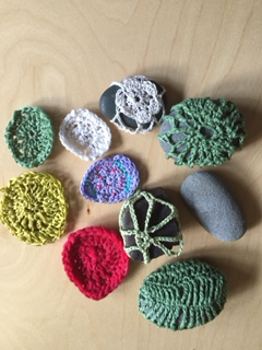 crocheted eggs