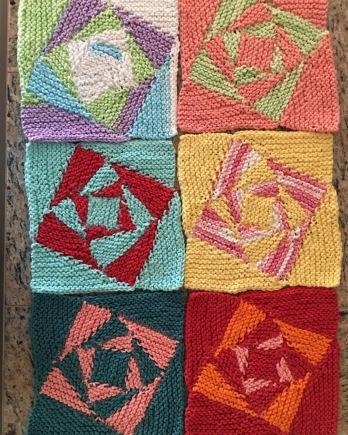 Vortex dishcloth by Rebecca Hudson